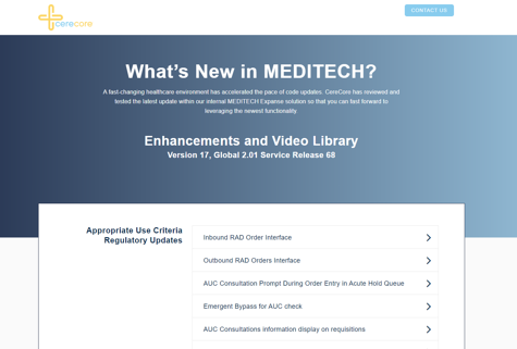 MEDITECH Enhancement Library